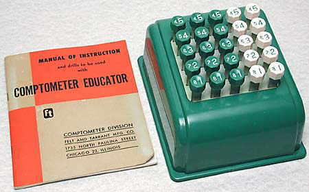 Comptometer Educator
