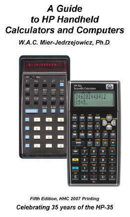 HP Handheld Calculators and Computers