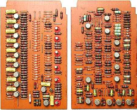 Transistorised circuit boards
