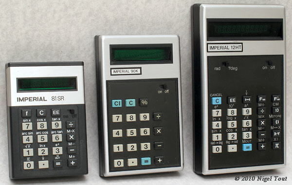 Imperial hand-held calculators