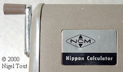 Label on Nippon Calculator HL-21