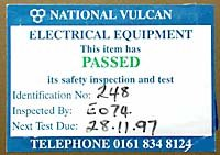 Electrically safety label