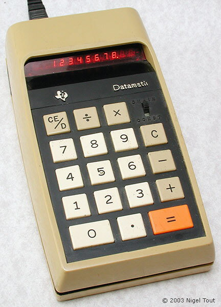 "Texas Instruments 2500 ""Datamath"", 1st version"