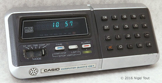 Casio CQ-1 in clock mode