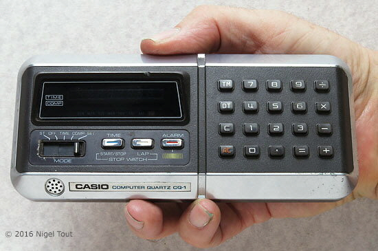 Casio CQ-1 in hand