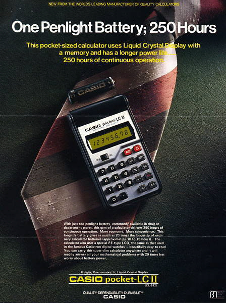 Casio pocket-LC II Brochure