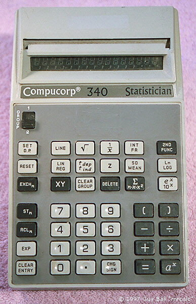 Compucorp 340 Statistician