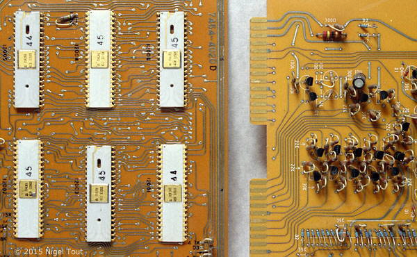 Circuit boards close up