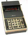 Portable electronic calculator