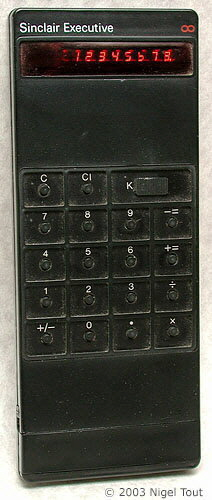 Sinclair executive calculator