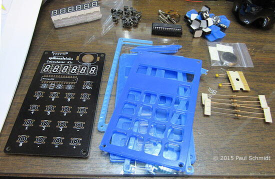 Calculator kit components